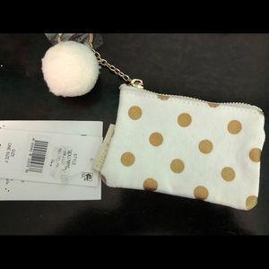 Bow and Drape coin purse